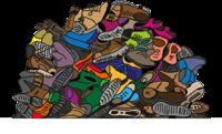 Jedes Jahr werden in Deutschland über 600 Millionen Paar gebrauchte Schuhe aussortiert